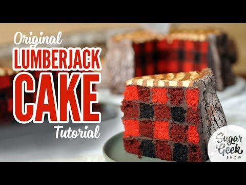 Free lumberjack cake tutorial from Sugar Geek