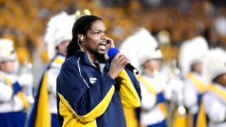 WVU vs. LSU 2011 Landau Eugene Murphy sings national Anthem