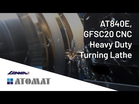 Atomat Spa & Giana SpA present the AT840E, GFSC20 CNC Heavy Duty Turning Lathe