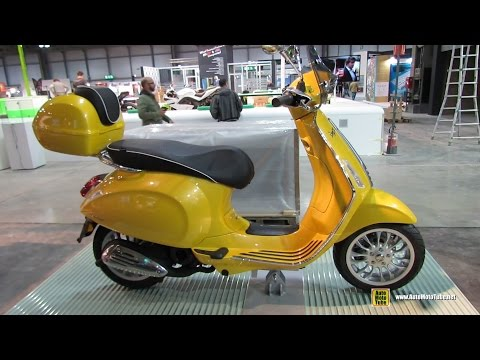 2015 Vespa Sprint - Walkaround - 2014 EICMA Milan Motorcycle Exhibition