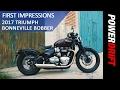 2017 Triumph Bonneville Bobber : First Impression : PowerDrift
