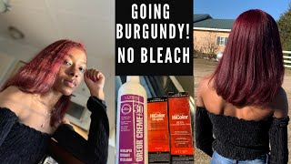 DYING MY NATURAL HAIR BURGUNDY SAFE & EASY | NO BLEACH