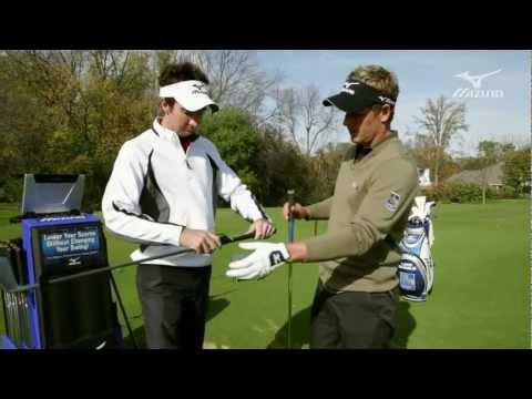 Mizuno Golf Swing DNA: Luke Donald testing iron shafts