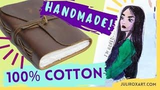 HANDMADE 100% COTTON Watercolor Journal – Wanderings Handmade Leather Journal Review