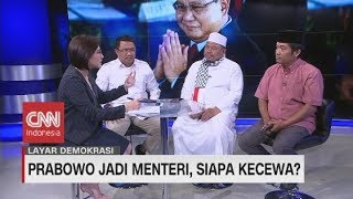 Live streaming 24 jam: https://www.cnnindonesia.com/tv Partai Gerindra dan Prabowo Subianto hampir dipastikan bergabung dalam koalisi pemerintahan Jokowi-Maaruf Amin. Prabowo bahkan siap menjadi pembantu Presiden dan diperkirakan akan mendapat jatah Menteri Pertahanan. Lalu bagaimana respon pendukungnya? Seperti persaudaraan alumni 212? Apakah Prabowo memang telah berpamitan dan memilih meninggalkan rekan seperjuangannya saat Pilpres 2019? Atau malah sebaliknya ada harapan baru yang disematkan pendukungnya dengan jabatan menteri Prabowo? Kita akan membahasnya dengan sejumlah narasumber yang telah hadir di studio malam hari ini Asep Syaripudin Wakil Ketua Umum PA 212, Miftah Sabri Juru Bicara Partai Gerindra, dan Ray Rangkuti Pengamat Politik   Ikuti berita terbaru di tahun 2019 dengan kemasan internasional berbahasa Indonesia, dan jangan ketinggalan breaking news 2018 dengan berita terakhir dan live report CNN Indonesia di https://www.cnnindonesia.com/tv dan channel CNN Indonesia di Transvision.   Dalam tahun politik sekarang ini dan menuju pilpres 2019, CNN Indonesia mencanangkan sebagai Layar Pemilu Tepercaya. Kami akan menayangkan konten-konten politik 2019 secara seimbang untuk mengawal demokrasi dan demokratisasi di Indonesia yang kami cintai.   CNN Indonesia tergabung dalam grup Transmedia. Dalam Transmedia, tergabung juga Trans TV, Trans7, Detikcom, Transvision, CNN Indonesia.com dan CNBC Indonesia.   Follow & Mention Twitter kami: @myTranstweet @cnniddaily @cnnidconnected  @cnnidinsight  @cnnindonesia   Like & Follow Facebook: CNN Indonesia  Follow IG:  cnnindonesiatv