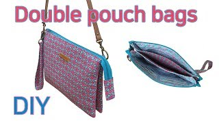 DIY Make A Clutch Bag/double Pouch Bag Tutorial/더블 파우치백 만들기/크로스백/tutorial De Bolsa Dupla