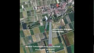 preview picture of video 'Bau der 1. Windkraftanlage der Verbandsgemeinde Wörrstadt'