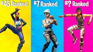 RANKING EVERY DANCE IN FORTNITE FROM WORST TO BEST!