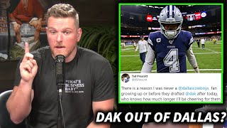 Pat McAfee Reacts To Dak Prescott's Brother Hinting He May Be Leaving The Cowboys