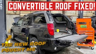COMPLETELY Replacing The Convertible ROOF On My GMC Envoy XUV