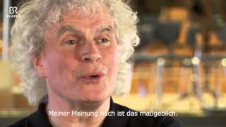 Simon Rattle probt