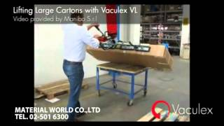Lifting large cartons with vaculex VL