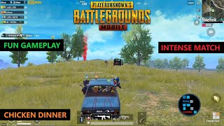 PUBG MOBILE | AMAZING FUN GAMEPLAY INTENSE MATCH CHICKEN DINNER