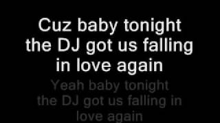Usher Dj Got Us Falling In Love Again Lyrics On Screen