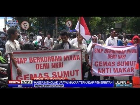 Massa di Medan Berunjuk Rasa Tolak Aksi People Power