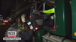 Garbage Trucks Caught Driving Erratically