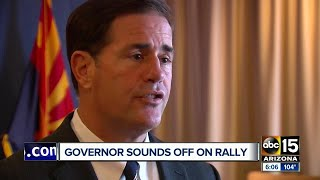 Governor Ducey reacts to President Trump