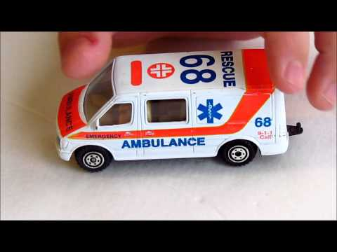 Matchbox and Novacar ambulance
