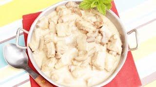 Фрикасе из курицы с грибами - Быстрый Ужин за 15 минут