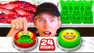 Mystery Buttons Choose what I EAT for 24 HOURS! *WARNING GROSS*
