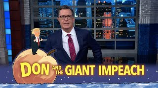 "The President hasn't formulated much of a plan to defend himself against impeachment, unless you count freaking out on Twitter as a plan. #Monologue #Impeachment #Colbert  Subscribe To ""The Late Show"" Channel HERE: http://bit.ly/ColbertYouTube For more content from ""The Late Show with Stephen Colbert"", click HERE: http://bit.ly/1AKISnR Watch full episodes of ""The Late Show"" HERE: http://bit.ly/1Puei40 Like ""The Late Show"" on Facebook HERE: http://on.fb.me/1df139Y Follow ""The Late Show"" on Twitter HERE: http://bit.ly/1dMzZzG Follow ""The Late Show"" on Google+ HERE: http://bit.ly/1JlGgzw Follow ""The Late Show"" on Instagram HERE: http://bit.ly/29wfREj Follow ""The Late Show"" on Tumblr HERE: http://bit.ly/29DVvtR  Watch The Late Show with Stephen Colbert weeknights at 11:35 PM ET/10:35 PM CT. Only on CBS.  Get the CBS app for iPhone & iPad! Click HERE: http://bit.ly/12rLxge  Get new episodes of shows you love across devices the next day, stream live TV, and watch full seasons of CBS fan favorites anytime, anywhere with CBS All Access. Try it free! http://bit.ly/1OQA29B  --- The Late Show with Stephen Colbert is the premier late night talk show on CBS, airing at 11:35pm EST, streaming online via CBS All Access, and delivered to the International Space Station on a USB drive taped to a weather balloon. Every night, viewers can expect: Comedy, humor, funny moments, witty interviews, celebrities, famous people, movie stars, bits, humorous celebrities doing bits, funny celebs, big group photos of every star from Hollywood, even the reclusive ones, plus also jokes."