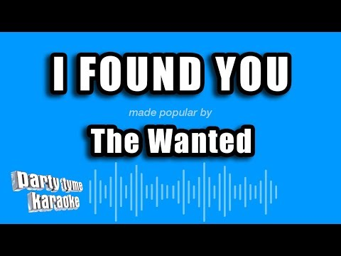 The Wanted - I Found You (Karaoke Version)