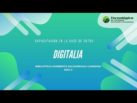 Capacitación base de datos Digitalia Hispánica