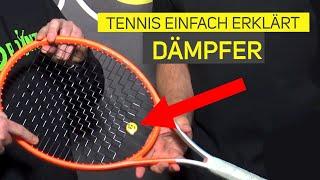 Ist ein Dämpfer für den Tennisschläger wichtig?   Tennis einfach erklärt!
