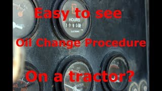 How to Change the Oil on a Case 1190 Tractor / Oil Change Procedure