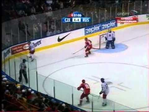 ЧМ по хоккею 2008,  Россия - Чехия, овертайм видео