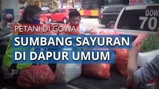 Petani Sumbang Sayuran Segar Untuk Dapur Umum Covid-19 TNI/Polri di Gowa, Sulawesi Selatan