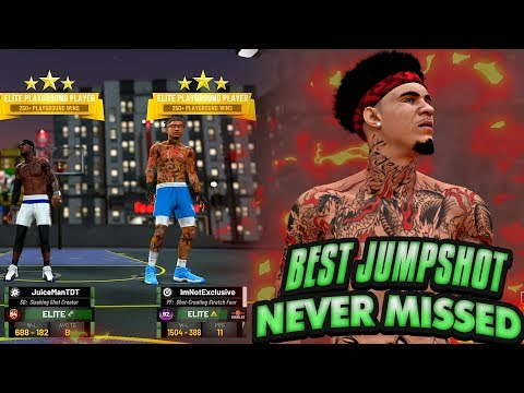 NBA 2K19 MyPARK - This Stretch Big NEVER MISSED! BEST JUMPSHOT! Becoming A DRIBBLE GOD?!