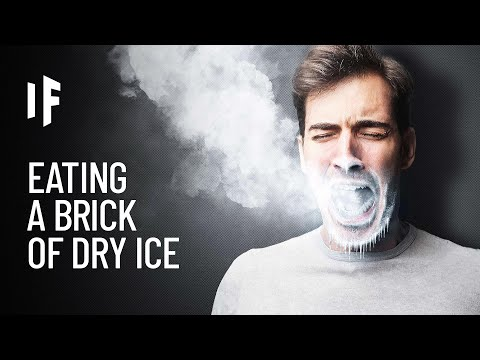 What Happens if You Try Eating a Block of Dry Ice?