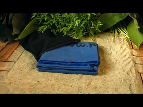 Mikrofaser-Duschtuch 140 x 70 cm, blau