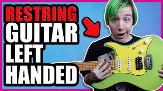 How To Restring a Guitar for Left Handed