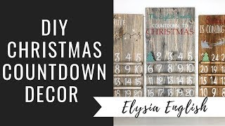 DIY Christmas Countdown | How To Christmas Countdown | Farmhouse Christmas Tutorial