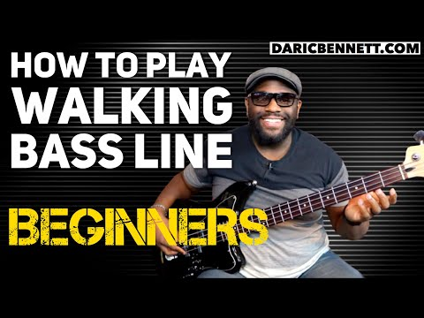 How to Play A Walking Bass Line Lesson | Bass Guitar for Beginners | Daric Bennett's Bass Lessons