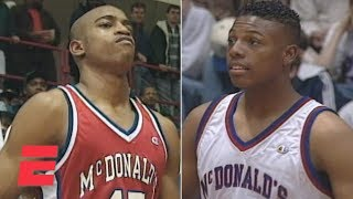 Vince Carter beats Paul Pierce in the 1995 McDonald's All-American Dunk Contest | ESPN Archive
