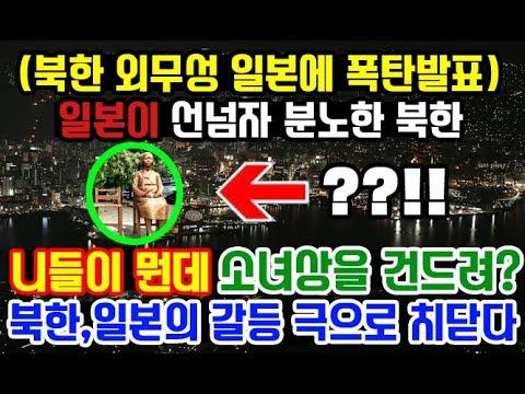 소녀상 건들지마!일본의 파렴치한 행동에 북한마저 격노한 상황