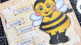Creating A Card Using The Free Digi Stamps From JMC Designs Super Cute