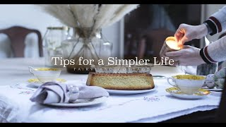 Tips for a Simpler Life