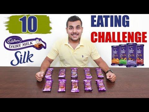 DAIRY MILK SILK EATING CHALLENGE   Dairy Milk Silk All Editions   Food Challenge India