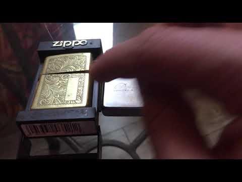 Zippo Venetian Brass and Brushed Chrome 1999 Niagara Falls Ontario Canada sent in by fan