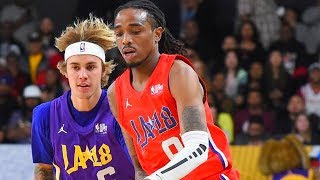nba allstar celebrity game 2018! quavo vs justin bieber! quavo wins mvp!