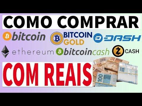 Como comprar BTC BCH BTG DASH ETH ZCH com REAIS!!! Utilizando a CoinBR!
