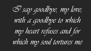 Goodbye My Love Poem - sad but I have to go
