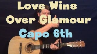 Love Wins Over Glamour (Adam Lambert) Easy Guitar Lesson How to Play Tutorial