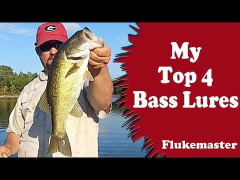 My Top 4 Bass Fishing Lures (subject to change)