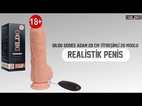 Dildo Series Adam 20 Cm Titreşimli 20 Modlu Realistik Penis