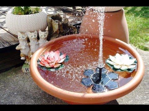 Garten aufhübschen ganz einfach Solar-Springbrunnen Solar-Teichpumpe mit 1,5W Solar Panel AngLink